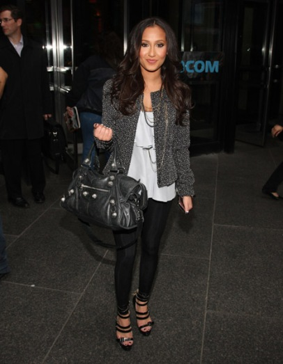 Adrienne leaves the MTV Studios