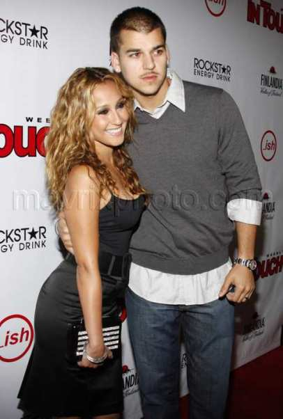 Adrienne and boyfriend Robert Kardashian